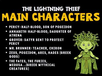 The Lightning Thief Slideshow Introduction Activity
