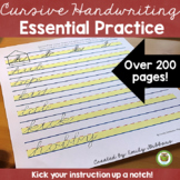 Introduction To Cursive Handwriting Practice Multisensory Lessons