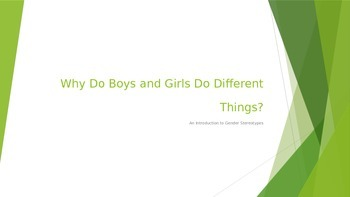 Introduction To Gender Sterotypes