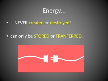 Introduction To Kinetic and Potential Energy: PowerPoint