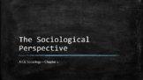 Sociology - Introduction To Sociology / The Sociological Perspective - Chapter 1