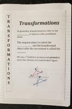 Introduction To Transformations (Foldables)