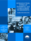 Introduction, Types of Evidence, & Conclusion Strategy Worksheets