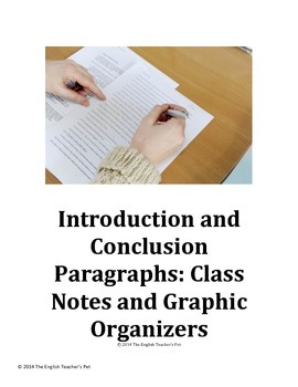 Introduction and Conclusion Paragraphs: Class Notes and Gr