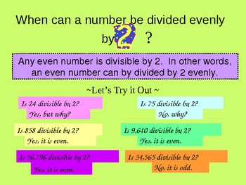 Introduction and Practice of Divisibility Rules