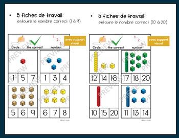 Introduction aux unités et dizaines - adapté à l'autisme