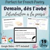 Introduction de la poésie l Introduction to French Poetry l Demain, dès l'aube