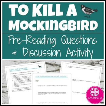 To Kill a Mockingbird Introduction Activity with Questions
