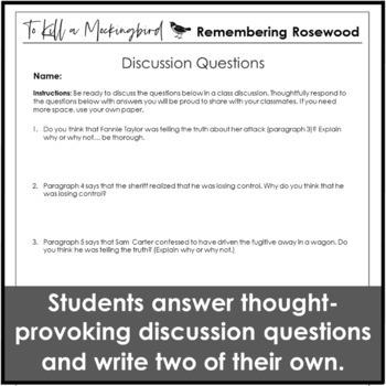 To Kill a Mockingbird Introduction Using The Rosewood Massacre