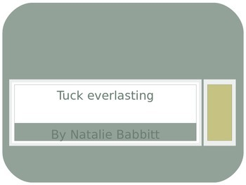Introduction for Tuck Everlasting