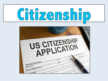 Introduction for a unit on citizenship