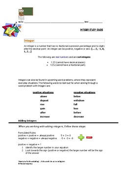 Rational Numbers Worksheet Teaching Resources Teachers Pay Teachers