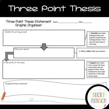 Writing An Introduction With Thesis Statement By Becky