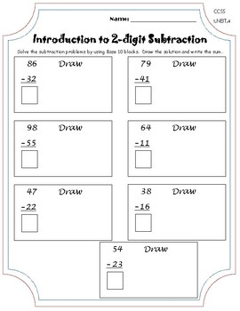 Introduction to 2 Digit Subtraction