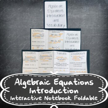 Introduction to 2-Step Equations and Inequalities INB TEKS 7.10A