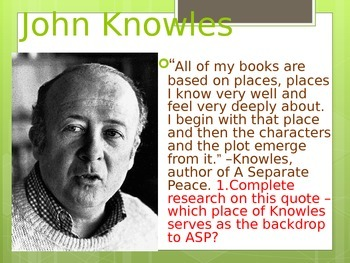 Introduction to A Separate Peace:  A Novel by John Knowles