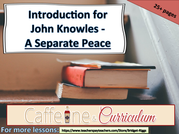 A Separate Peace Introduction (John Knowles)