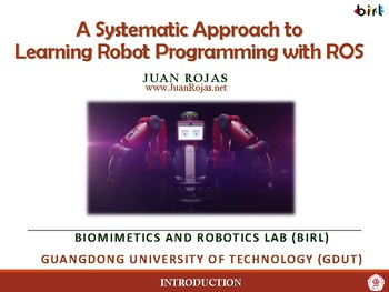 01. Introduction to A Systematic Approach to Learning Robot Programming with ROS