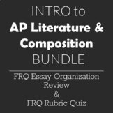Introduction to AP Literature FRQ Essay Organization and R