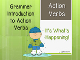 Introduction to Action Verbs PowerPoint & Activity Sheet