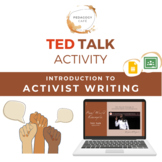 Introduction to Activist Writing: TED Talk Activity & Discussion