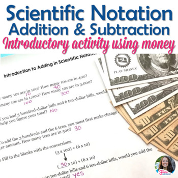 Introduction to Adding in Scientific Notation using Money