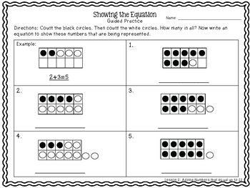 Introduction to Addition {Step-by-Step Plans for Hands on Learning}