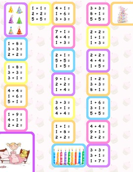 Doubles and Plus One Addition Game