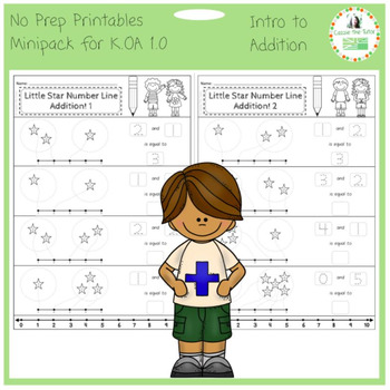 Introduction to Addition -- No Prep Mini-Pack for K.OA 1.0 & 5.0