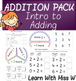 Introduction to Addition Worksheet and Activity Pack