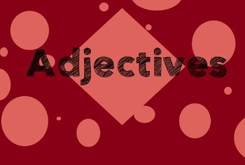 Adjectives for Beginners