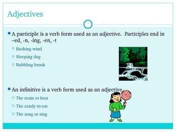 Introduction to Adjectives Power Point Presentation
