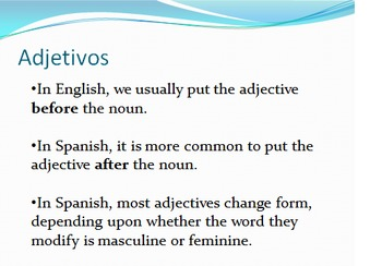 Introduction to Adjectives in Spanish