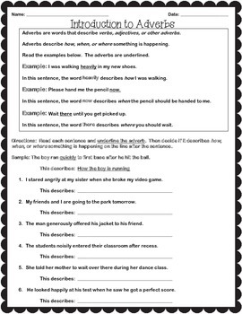 Introduction to Adverbs