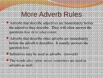 Introduction to Adverbs Power Point