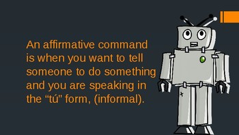 Introduction to Affirmative Tú Commands (Presentation with Q&A)