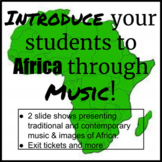 Intro to AFRICAN CULTURE thru MUSIC-traditional & contemporary DISTANCE LEARNING