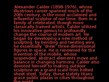 Introduction to Alexander Calder Powerpoint