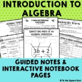 Introduction to Algebra Interactive Notebook