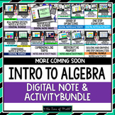 Introduction to Algebra Note and Activity Bundle For Googl