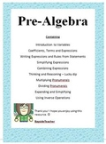 Introduction to Algebra - Pre Algebra Teacher Notes, Examples & Activities