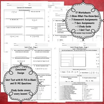Introduction to Algebra - Unit 0 - 8th Grade Math