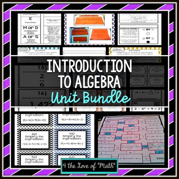 Introduction to Algebra Unit Bundle