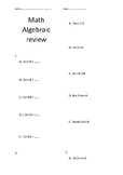 Introduction to Algebra Worksheet - No Prep!