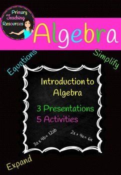 Introduction to Algebra ((Worksheets, presentations included)