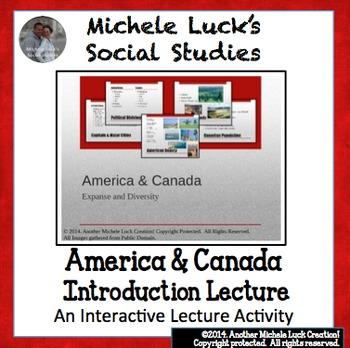 Introduction to America and Canada Ppt Lecture Notes - Geography and Comparison