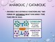 Introduction to Anabolic / Catabolic Reactions PowerPoint with Mini-Quiz