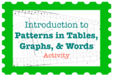 Introduction to Patterns in Tables, Graphs, & Words (Activity)