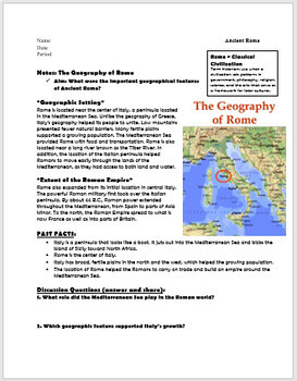 Introduction to Ancient Rome- Geography & Early Roman Civilization