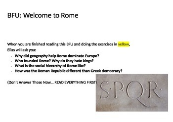 Introduction to Ancient Rome (Reading & Activity)